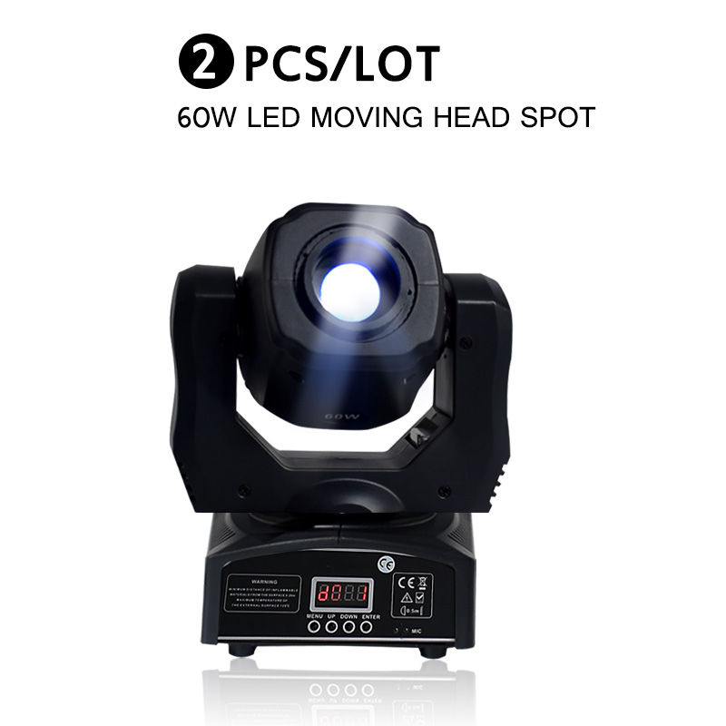 60W LED Moving Head Spot Light For Dj Equipment DMX512 China Led 60w Gobo Moving Heads (2 Pieces/lot)