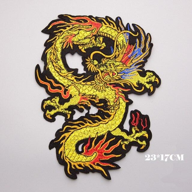 Вышивка на одежду дракон