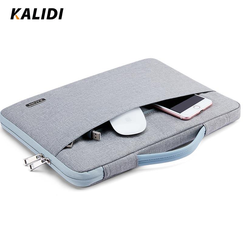 KALIDI 11 12 13 14 15 Inch Laptop Bag Waterproof For Men Women Notebook Sleeve Bag  13.3 15.6 Inch Computer Bag for Macbook 2018