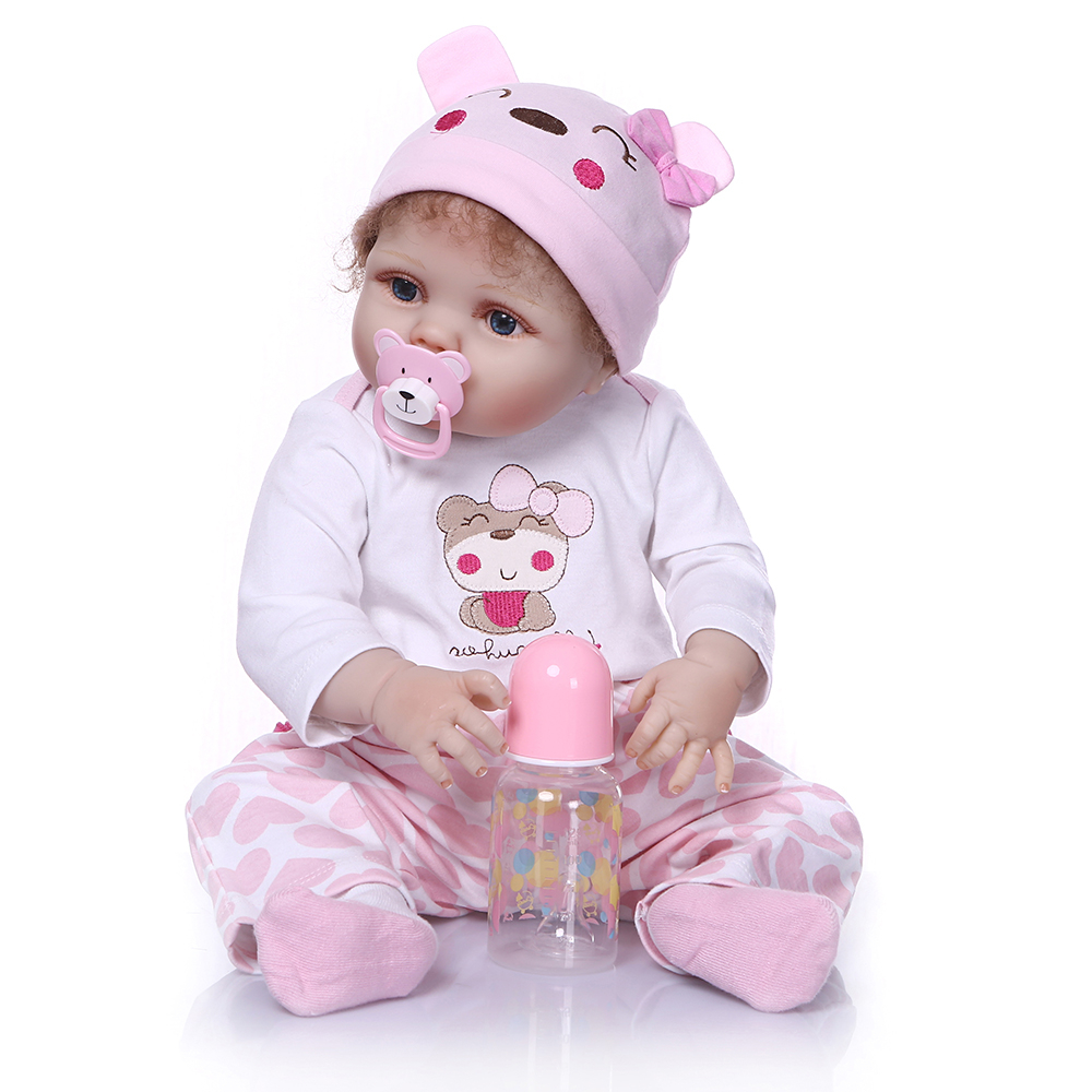 NPK 55cm Full Body Reborn Baby Doll Soft Silicone Reborn Baby Dolls Vinyl Bath Toys For Girls Boys Bebe Dolls For Kids Xmas Gift new ucanaan 50 55cm silicone reborn doll playhouse toys npk doll toys fashion dolls for boys gift the best christmas gift