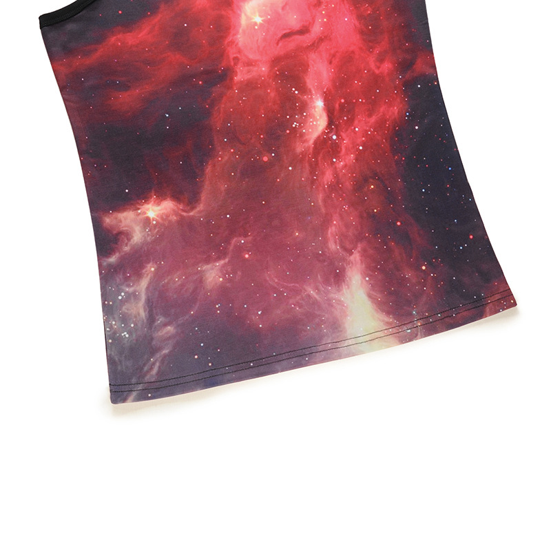 tank top men 2018 NEW 3D painted starry sky universe sleeveless men/women fitness tank top breathable