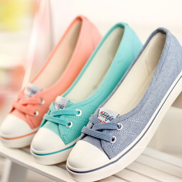 Summer Women Canvas Shoes Ladies Sneaker Ladies Low Flat Breathable Casual Shoes