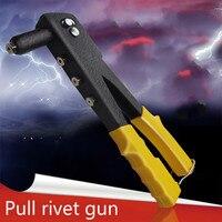 Delikli el Riveter perçin Tek çekirdek çekerek Riveter kelepçe cıvata çekin tırnak çektirme tabancası el araçları çok aracı
