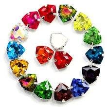 20 шт. 12 мм смешанные цвета пришить с коготь стразы для шитья разноцветный стеклянный камень на одежду платье украшения B1096