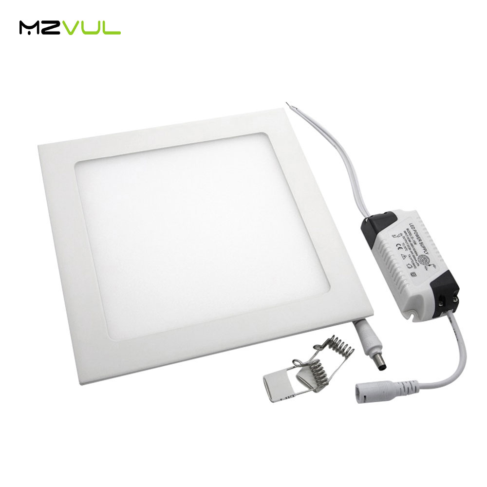 Ultra thin Square panel light dimmable 3w <font><b>4w</b></font> 6w 9w 12w 15w 18w <font><b>led</b></font> ceiling recessed <font><b>downlight</b></font> lamp AC85-265V Indoor Lighting image