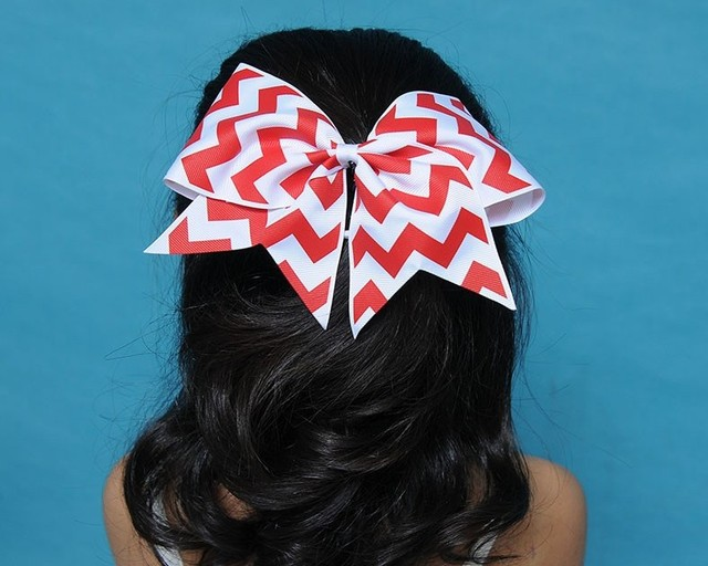 Hair Bow Set For Girls 20pcs 7 Inch Cheer Bows Cheerleading BowGirl Elastic Band
