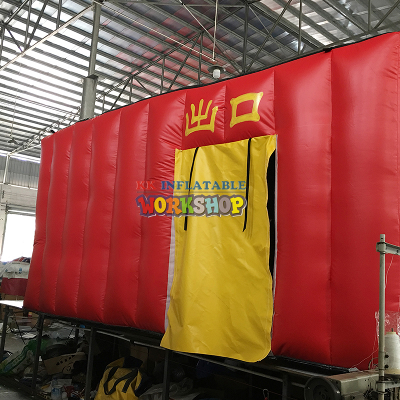 Customized fire training simulator Student drill inflatable fire safety house escape room tentCustomized fire training simulator Student drill inflatable fire safety house escape room tent