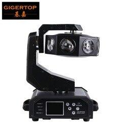 Gigertop TP-L684 350 ワット LED 移動ヘッドダブルフライングライト UFO シングルホイール 8 × 40 ワット RGBW 4IN1 Led DMX 18 チャンネル Led ヘビ