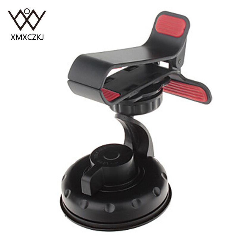 XMXCZKJ Universal Phone Holder 360 Rotating Car Windshield Suction Cup Mount Stand Cradle Bracket For iPhone Samsung Xiaomi GPS