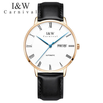 Luxury Brand Carnival Switzerland Men Watches Mechanical Watch Men Japan Import NH36A SII O Sapphire hombre relogio C8861-6