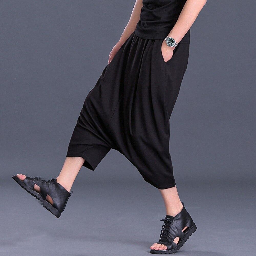 Grande Verano Negro Hombre Tendencia Pantalones Del Harem Versión Nueve Ocio Para Sueltos Colgantes Puntos 2018 De Talla La Coreana wEwZSqUBW