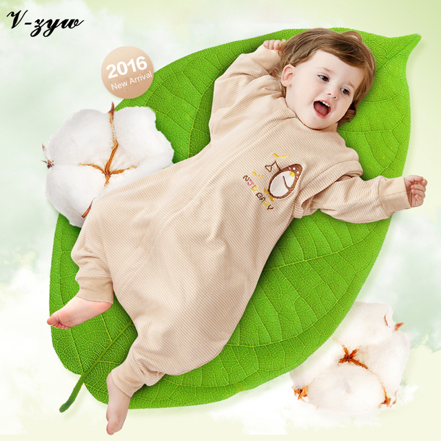 2016 NEW Baby Legs apart Sleeping Bag Spring and Summer 100% Cotton Children Sleeping Bags Natural Organic Cotton 0-4 Years Old