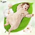 2016 NOVAS pernas Do Bebê Saco de Dormir Primavera e no Verão das mulheres 100% Crianças de Algodão Sacos de Dormir de Algodão Orgânico Natural de 0-4 Anos velho