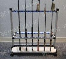 Aluminum Fishing Rod Rack Silver 24Pcs Fishing Rods Holder Pesca Fishing Tackle Carp Fishing Rods Holder New