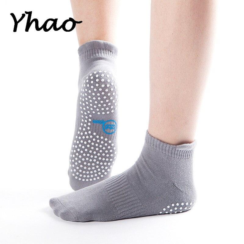 ✔  Yhao Марка хлопок женские спортивные Пилатес Носки отличное качество Good Grip Anti-slip Yoga Мужски ✔