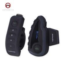 Motorcycle Bluetooth Helmet Intercom V8 Remote Control 5 Riders BT Interphone Headset With FM Waterproof Intercom 1200m