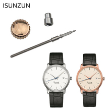 ISUNZUN Waterproof Watch Crown Silver or Rose Gold Color Stainless Steel Dome Flat Head Watch Accessories Repair Tool MIDO M027