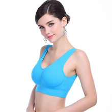 Womens Thin No Mat Athletic Vest Fitness Sports Yoga Stretch Bra