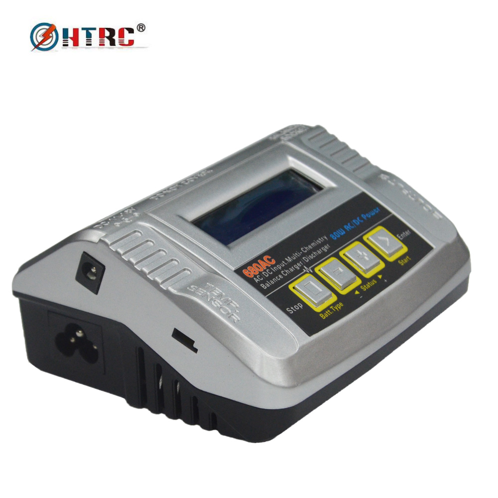 HTRC 680AC 80W 6A RC Battery Balance Charger Discharger for 1-6s LiPo/LiFe/Lilon Multi Charger AC/DC Dual Power