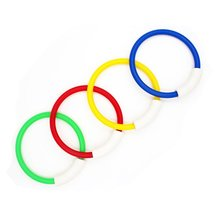4pcs Children Colorful Diving Ring Pool Sink Swimming Water Game Plastic Durable Sticks Toys