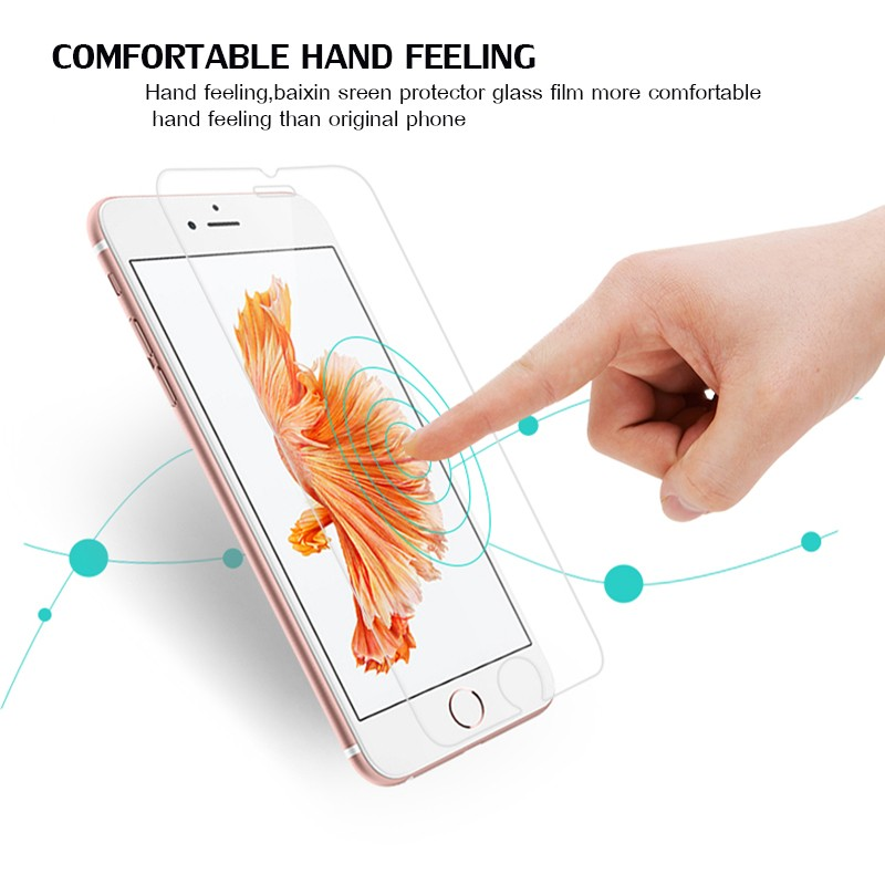HTB1mMDZLXXXXXbjXFXXq6xXFXXXj - 9H tempered glass For iphone XR XS X 8 4s 5s 5c SE 6 6s plus 7 plus screen protector protective guard film case cover+clean kits