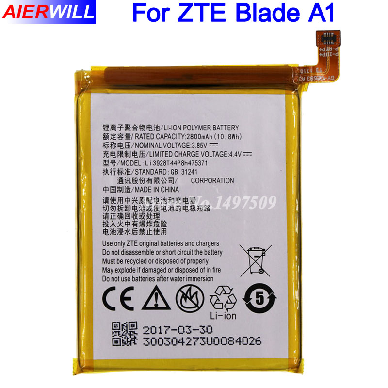 2800mAh Li3928T44P8h475371 Battery for ZTE Blade A1 AXON Mini B2015 C880 C880A C880S Xiaoxian 3