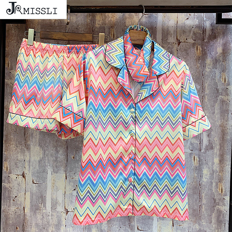 JRMISSLI 2019 Summer Women Pajamas Sets Ladies Pijama Silk Pyjama Sleepwear Women s Pajamas Sexy 3