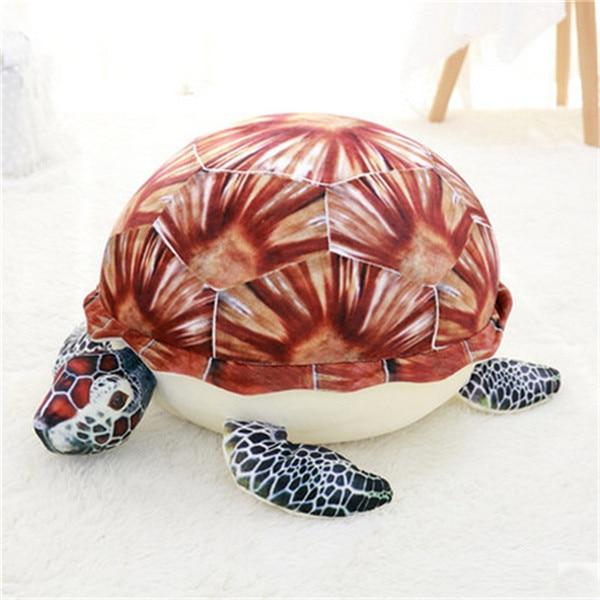 Fancytrader плюшевые морские животные Черепаха Осьминог Globefish игрушечный КИТ пенная частица набитый стул для детей 70 см X 50 см X 40 см - Цвет: orange turtle