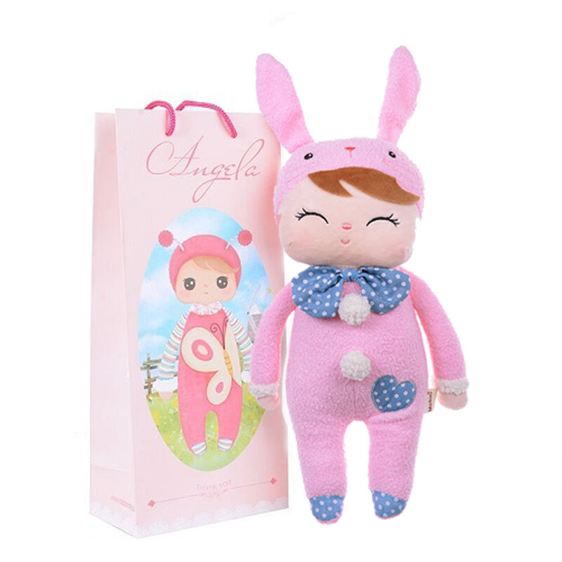 Plush Sweet Cute Lovely Stuffed Baby Kids Toys for Girls Birthday Christmas Gift 13 Inch Angela Rabbit Girl Metoo Doll fashion bjd dolls zipper bag backpack for 18 inch bjd doll accessories toys for girls christmas birthday gift for kids toys