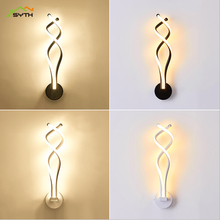 High quality wrought iron body Simple modern staircase aisle LED wall lamp bedroom bedside lamp wall lamp wall light bedroom lam modern simple stairs aisle wood wall lamp bedroom bedside lamp glass wall light free shipping