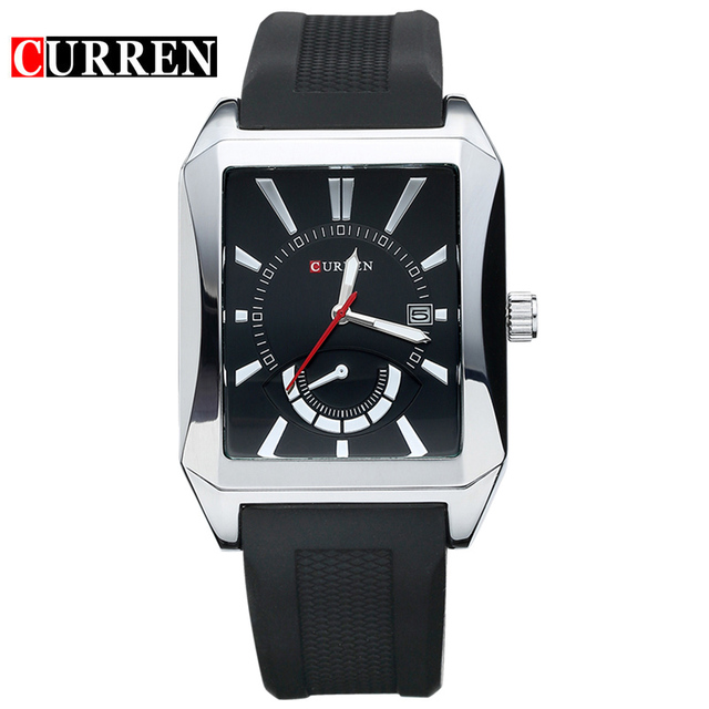 Casual Watches Men Luxury Brand CURREN Men's Wrist Watches Waterproof Business Quartz Wristwatches With Silicone Band