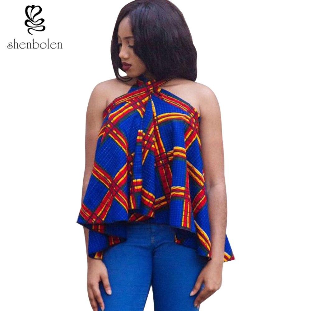 2017 Summer Fashion Ankara African Clothing Sexy Halter