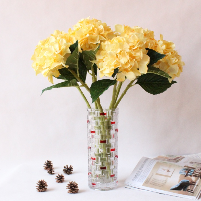 Kunstliche Seide Hortensien Faux Blumen Hochzeit Dekoration