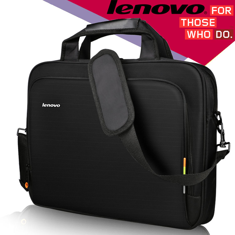Laptop Shoulder Bag Women Men Notebook Sleeve Messenger HandBag Briefcase Carry Bags for Lenovo Laptop Bag Black 14 15.6 inch image