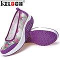 Keloch Повседневная Обувь Квартир Женщин PU sapato feminino Повседневная Осень Квартиры Женщины Досуг Обувь Дамы Schoenen Chaussure Femme