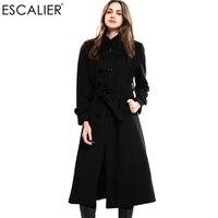 Escalier Women S Winter Slim Collar Woolen Overcoat Jacket