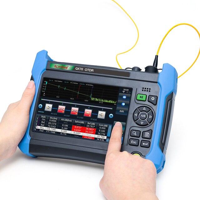 Komshine 最新モデル QX70 MS SM & ミリメートル OTDR 850/1300/1310/1550nm 、 32/30/28/24dB 、高性能、多機能