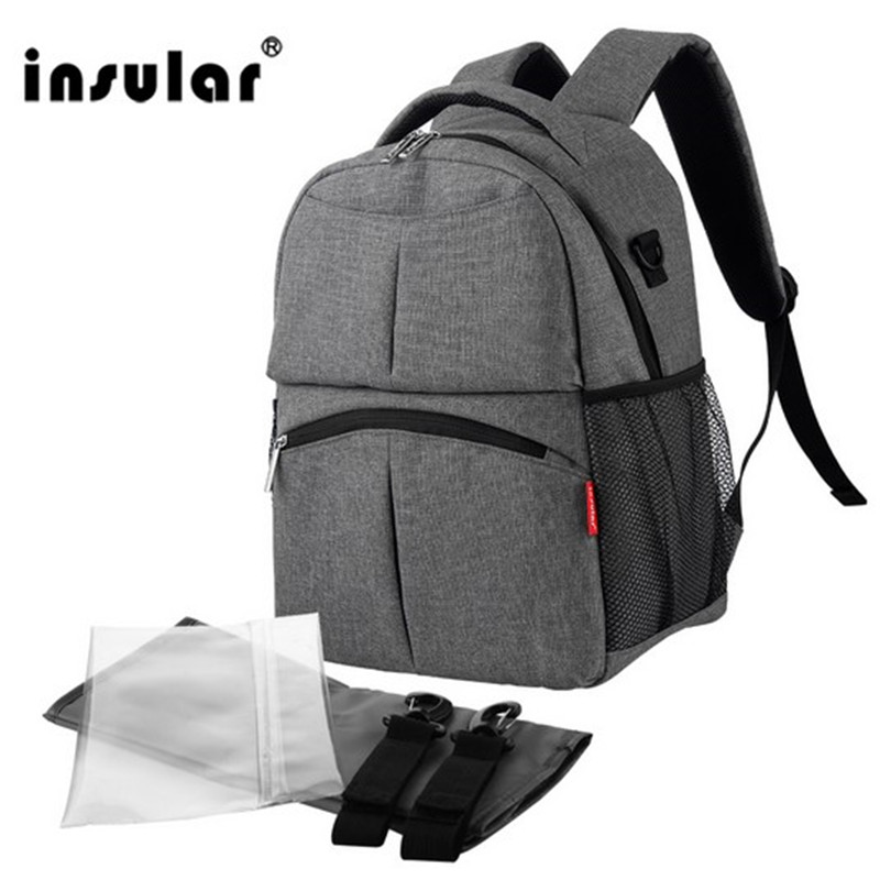 ФОТО 2017 Insular Shipping Free stroller bag Baby Diaper Bag Backpack Multifunctional Mommy Bag Backpack Waterproof Nappy Backpack