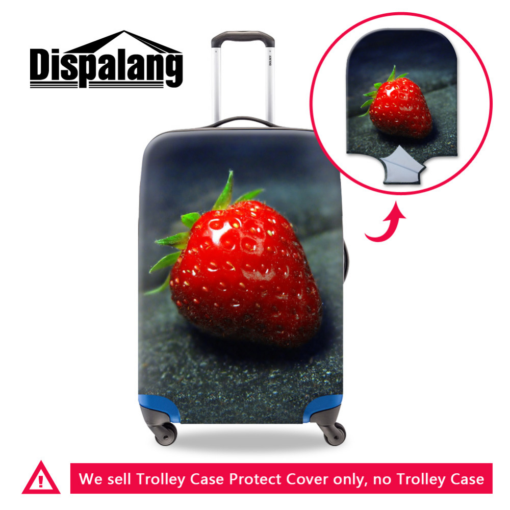 8a1f835c6dad Durable 3D Fruits Print Fashion Travel Accessories For 18-30 Inch Trolley  Suitcases Travel Luggage Protective Cover Strawberry