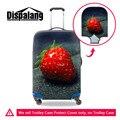 Frutas Impressão 3D durável Acessórios de Viagem da Moda Para 18-30 Polegada Malas de Viagem Do Trole Da Bagagem do Curso de Proteção Cobertura de Morango