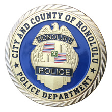 Город и графство Гонолулу Полицейский отдел позолоченный пластиковый чехол для коллекционной монеты/медали 1405