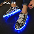Size 35-45 New Arrived Fashion LED Light Shoes Glowing Luminous Sneakers with Light Soles Trainers Shoes Basket Femme Kids Boy