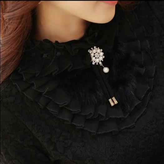 Высокое качество осень-зима Новое поступление платье с открытыми плечами большой размер S-XXL с высоким воротником толстый флис кружевная блузка E399