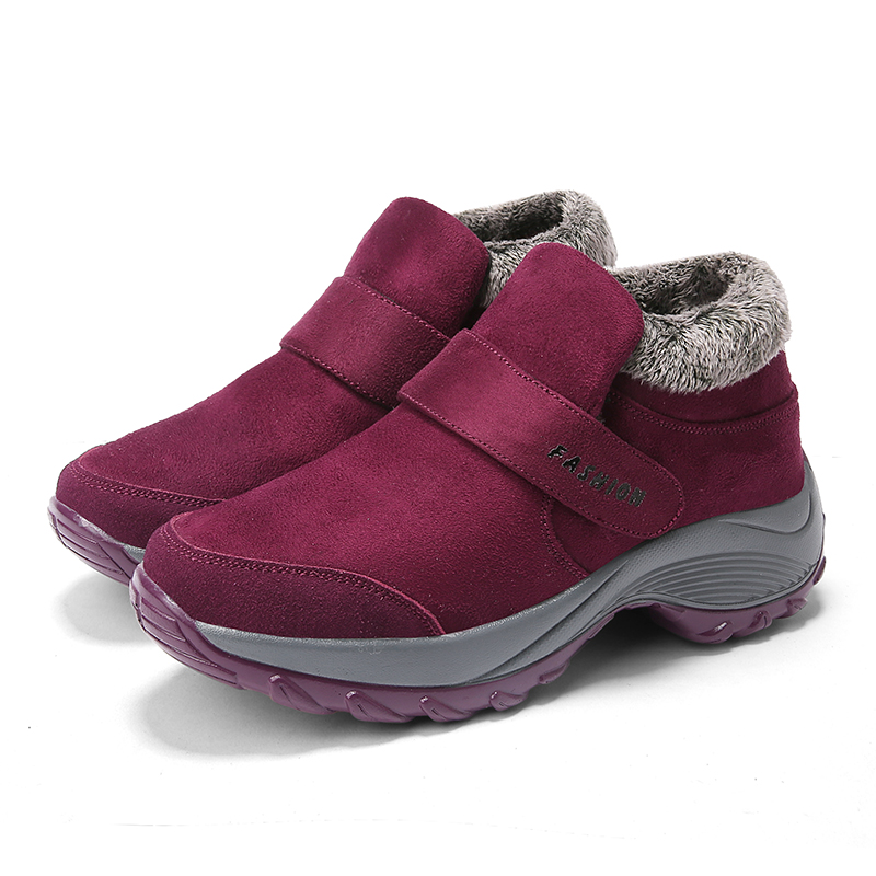 De Femmes Cheville rouge Polali 2018 Noir Imperméables Chaudes En Pour pourpre Mode Chaussures Bottes Travail Qualité Neige D'hiver Hiver Peluche tqwR8f