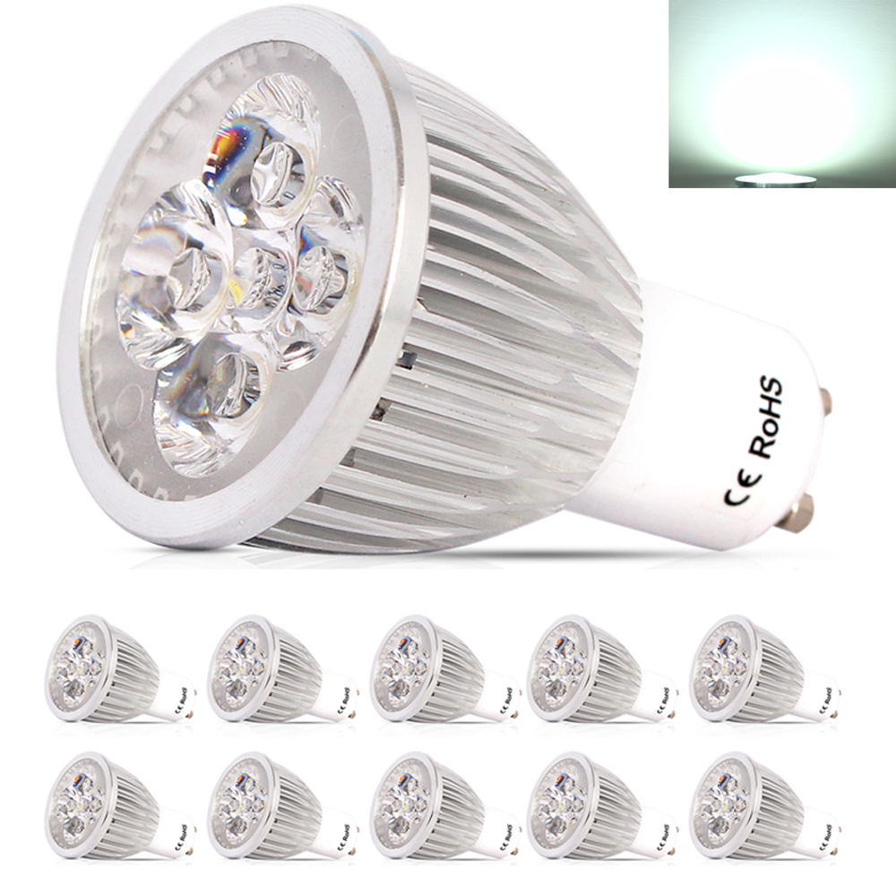 10X LED For Home Lampada Lamps GU10  AC220V-240V 5W Led Spotlight Lamp Warm / Cool White Led Bulbs Light With Safety Glass Cover