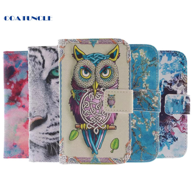 Brand PU Leather Art Animal Print Wallet Cases For ASUS Zenfone5 T00j Zenfone 5 A500CG Book Flip Covers TPU Silicon Full Housing