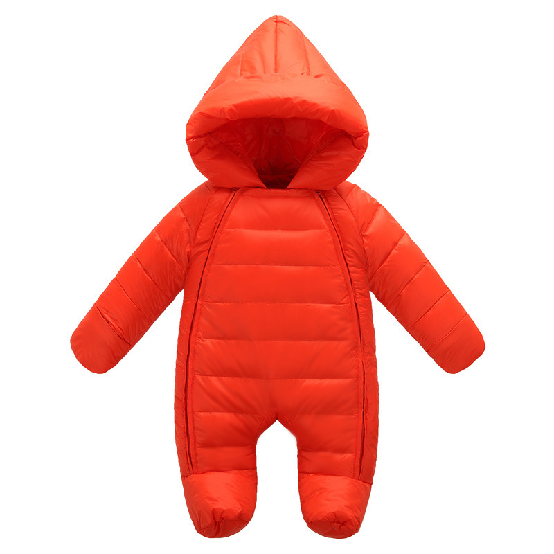 2018 Baby Outwear Newborn Baby Boy Girl Thick Warm Duck Down Winter Snowwear Baby Cute Hooded Newborn Baby Clothes Suit new autumn winter little boys girls baby solid color cute rabbit thick warm long coat white duck down jacket outwear clothes