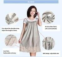 Ajiacn с защитой от ЭМП платье для беременных, удобное и дышащее, кружевной подол, радиационная стойкость, модное рабочее платье для беременных