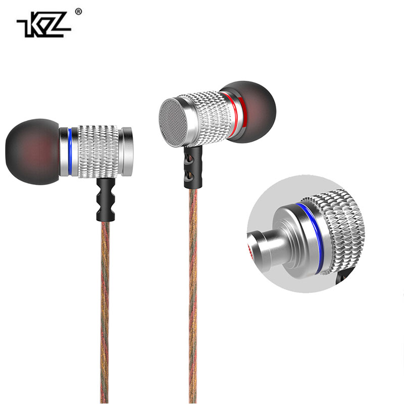 Original 3.5mm In-Ear Earphone Metal Heavy Super Bass Sound Earbuds With Microphone for Phone iphone PC +earbuds bag  KZ EDR2 cafele professional in ear earphone metal heavy bass high fidelity sound quality music earphone with microphone for mobile phone