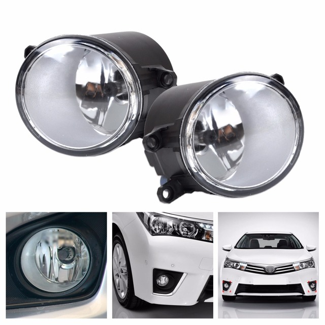 DWCX 2Pcs Fog light Lamp Left + Right Set For Toyota Camry Corolla Yaris RAV4 Lexus GS350 GS450h LX570 HS250h IS-F LX570 RX350